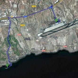 Wegbeschreibung vom Flughafen zur Marina San Miguel