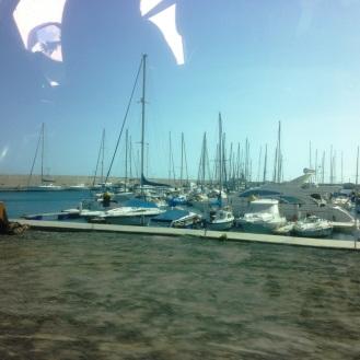erster Blick auf die Marina